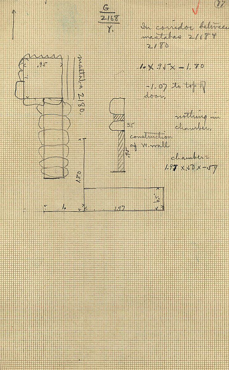 Maps and plans: G 2168, Shaft Y