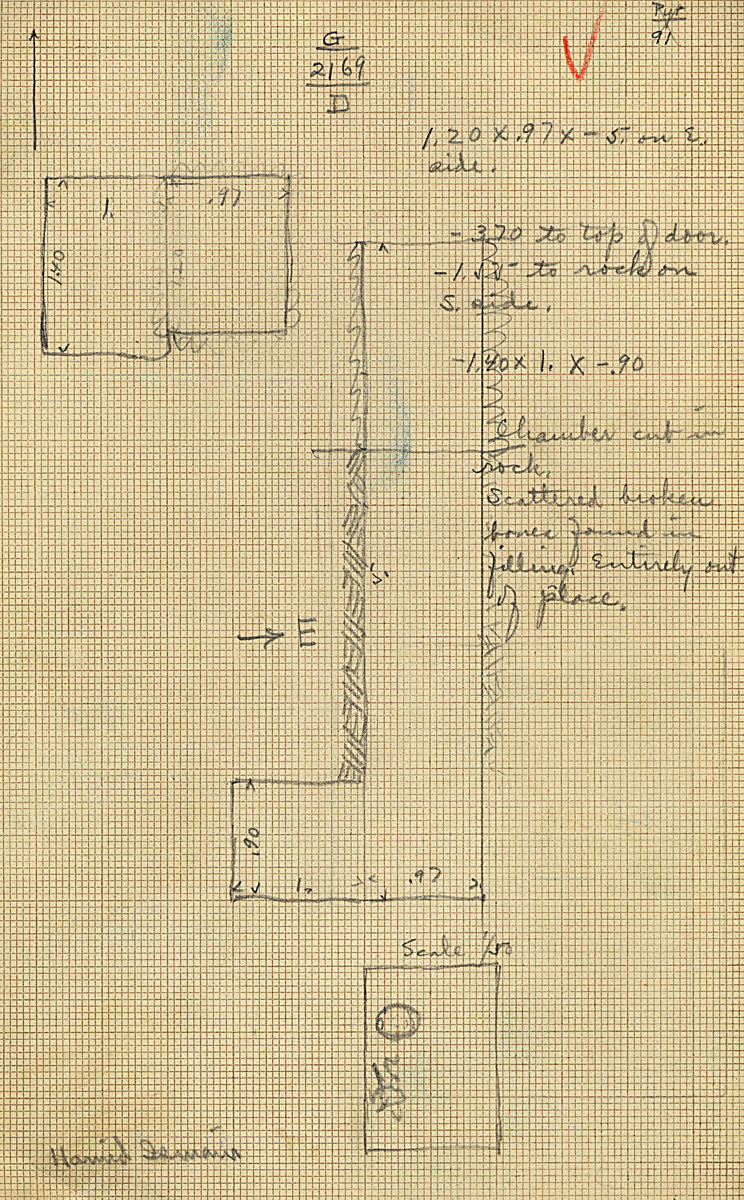 Maps and plans: G 2169, Shaft D