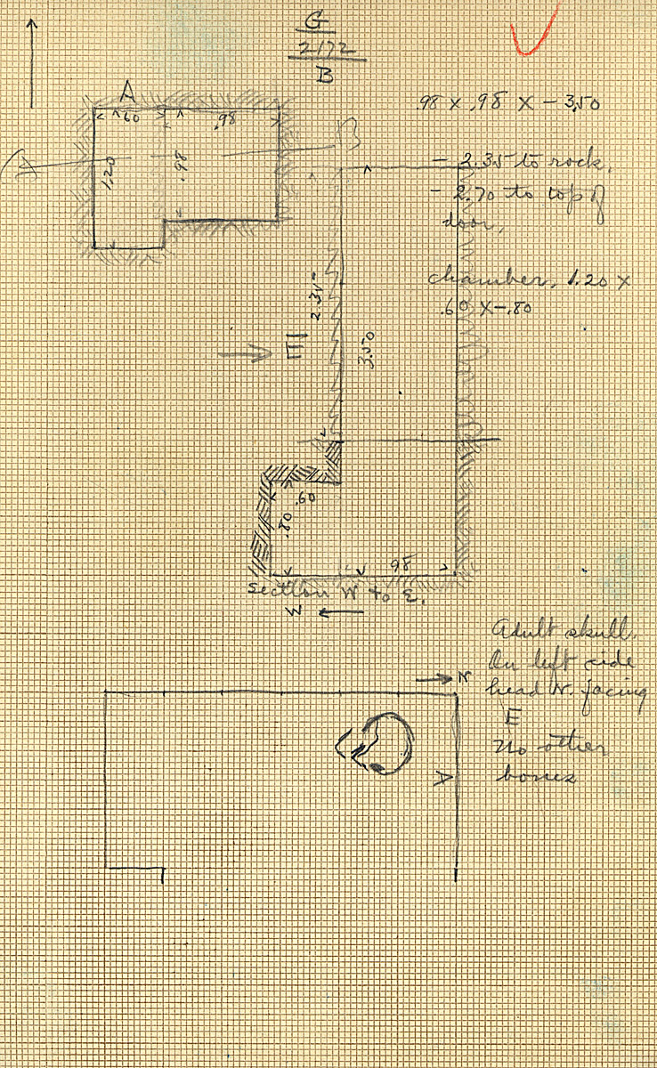 Maps and plans: G 2172, Shaft B