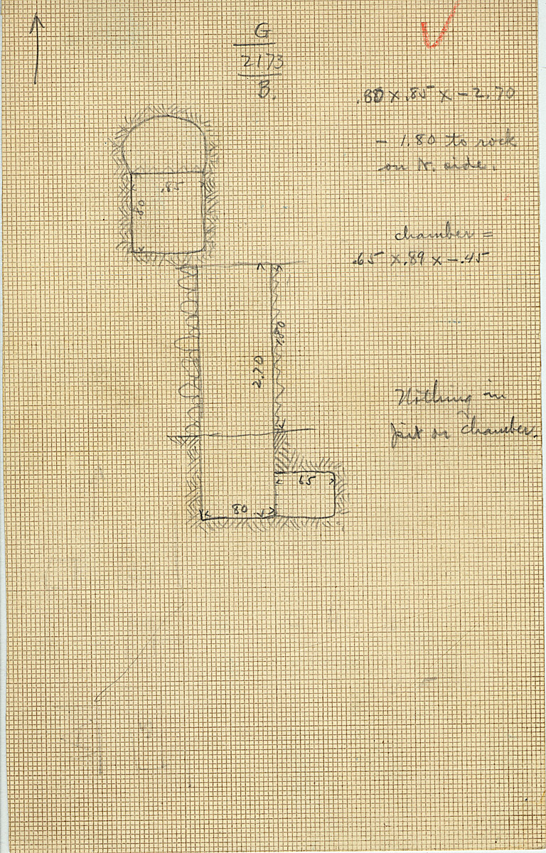 Maps and plans: G 2173, Shaft B