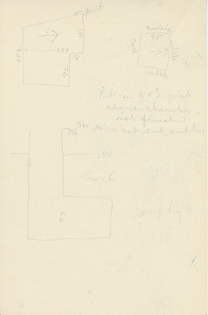 Maps and plans: G 2175, Shaft E, notes