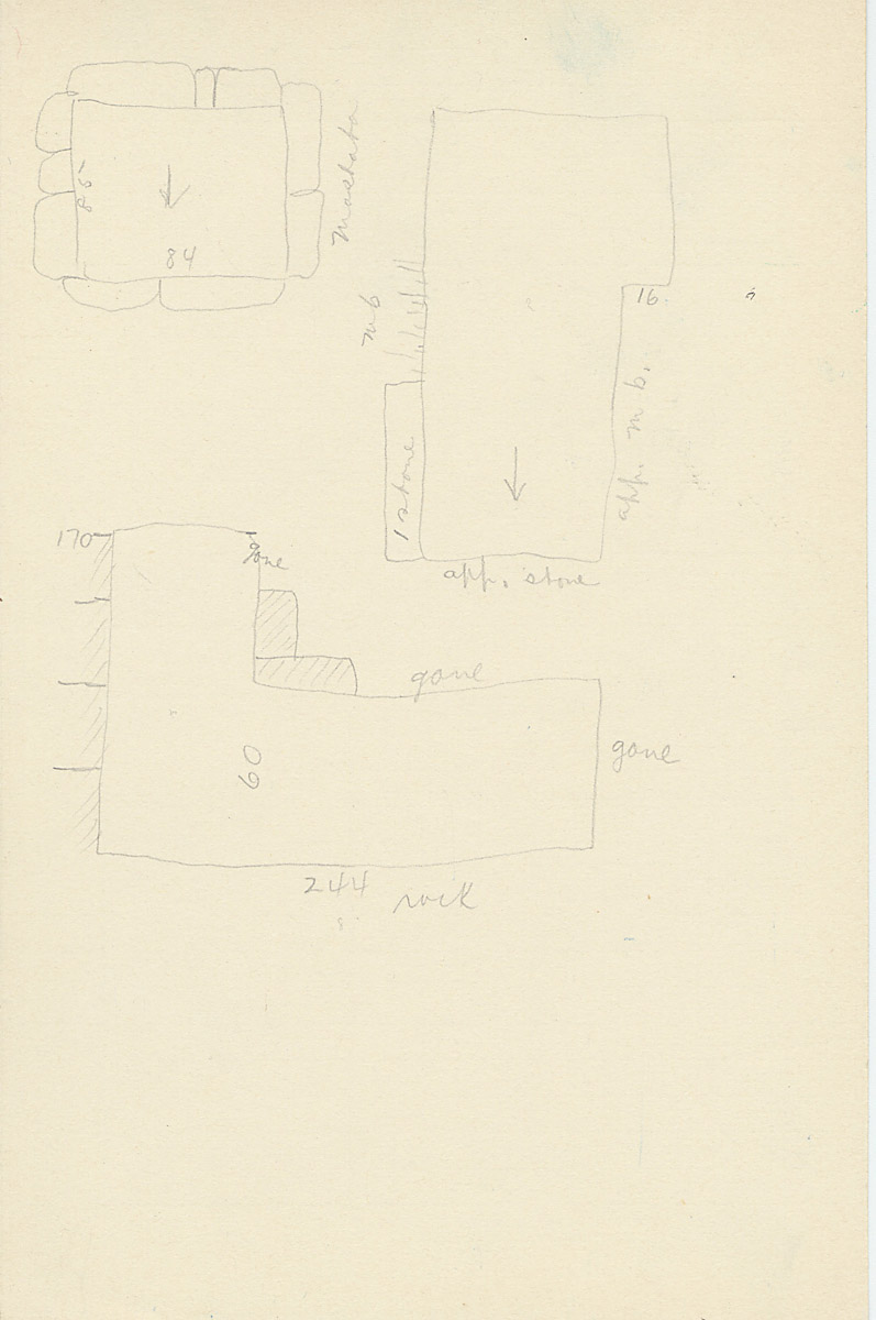 Maps and plans: G 2175, Shaft Y, notes