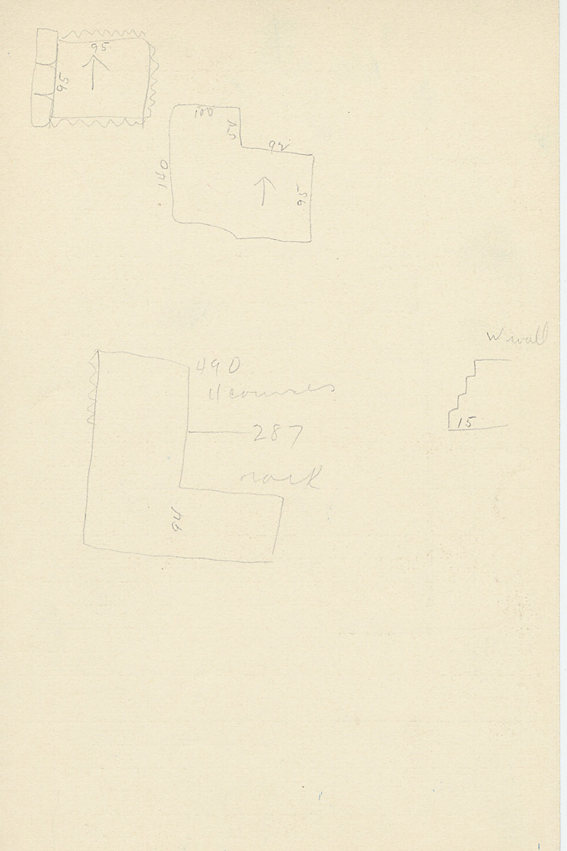 Maps and plans: G 2179, Shaft B, notes