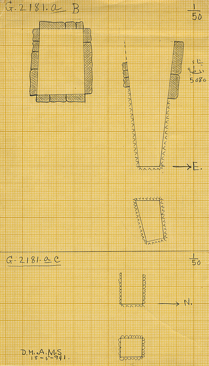 Maps and plans: G 2181a, Shaft B and C
