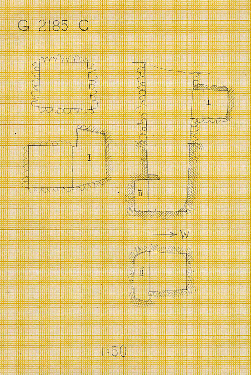 Maps and plans: G 2185, Shaft C