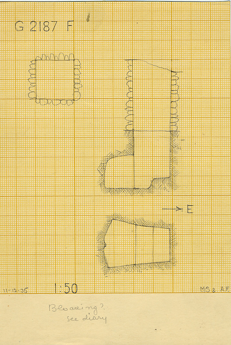 Maps and plans: G 2187, Shaft F