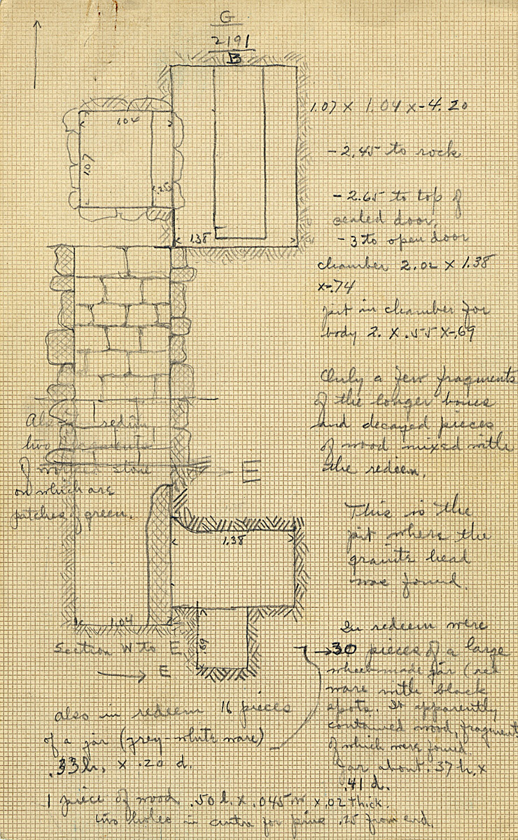 Maps and plans: G 2191, Shaft B