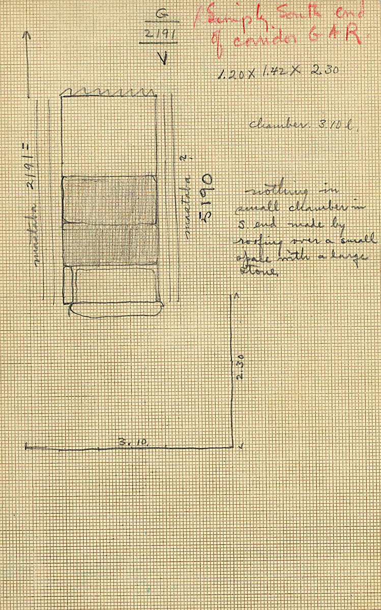 Maps and plans: G 2191, roofing in chapel corridor
