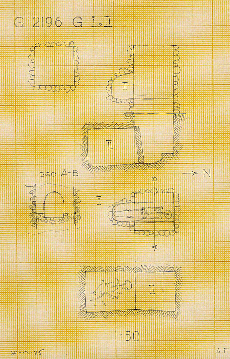 Maps and plans: G 2196, Shaft G (I & II)