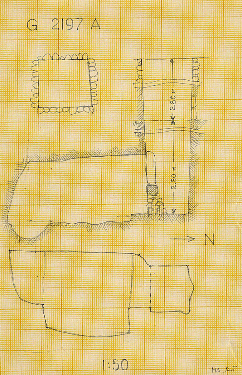 Maps and plans: G 2197, Shaft A