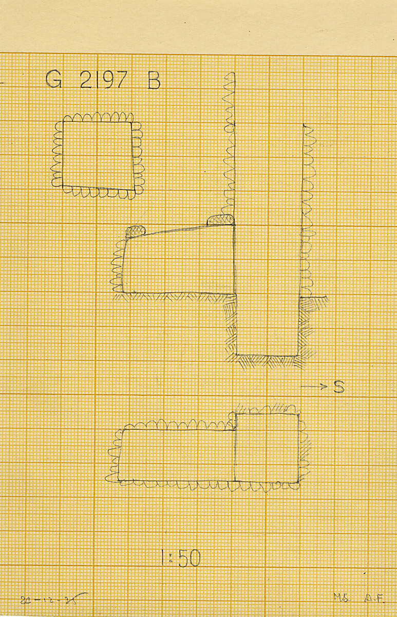 Maps and plans: G 2197, Shaft B