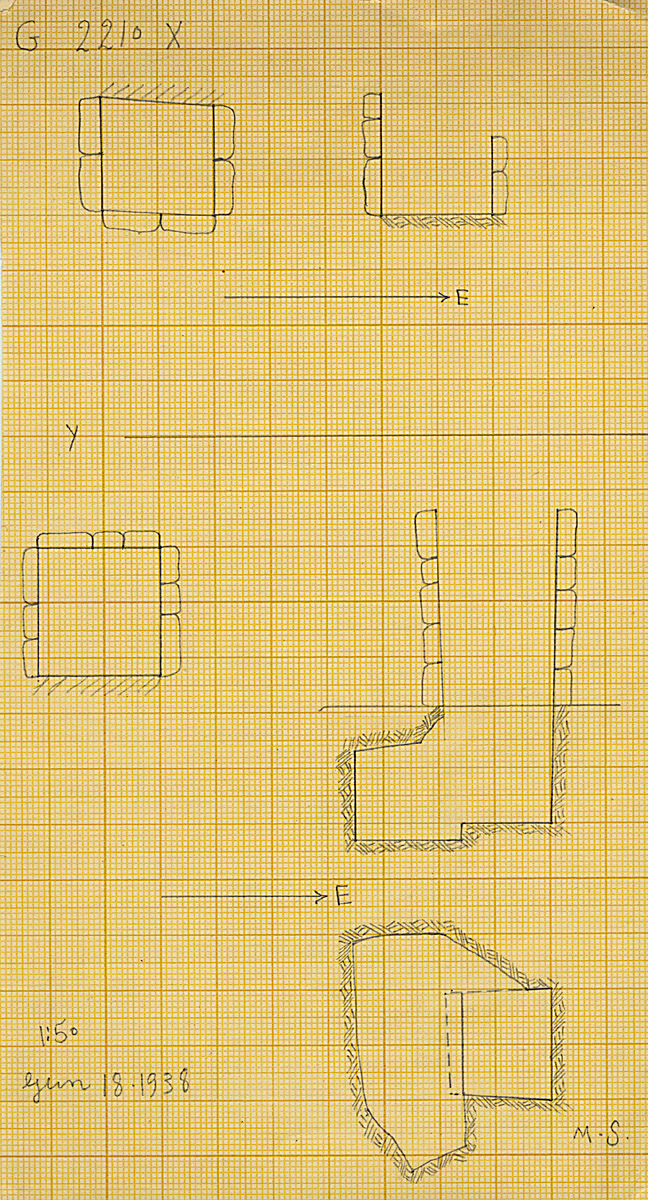 Maps and plans: G 2210, Shaft X and Y
