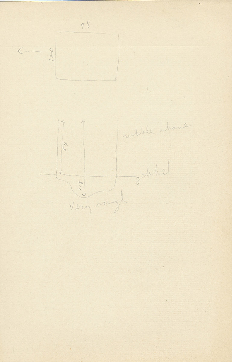 Maps and plans: G 2223, Shaft B, notes
