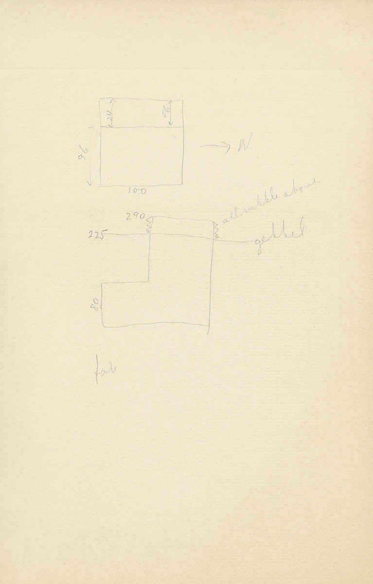 Maps and plans: G 2223, Shaft A, notes