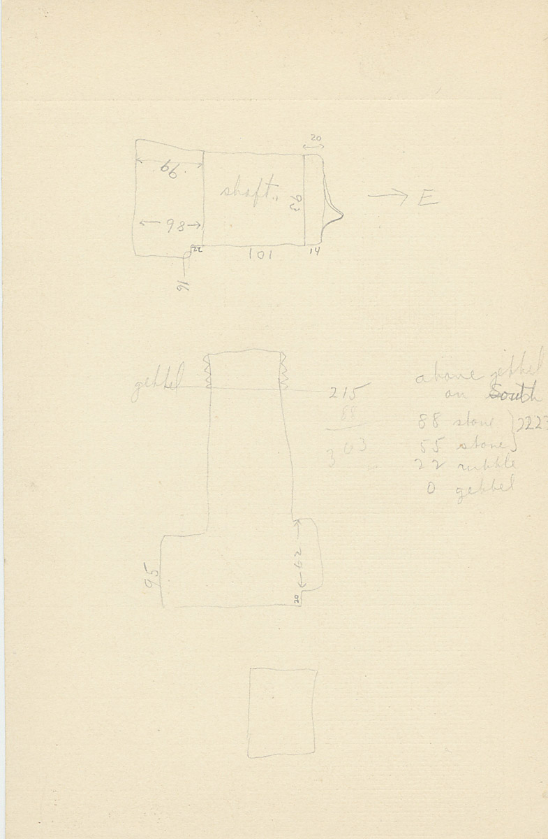 Maps and plans: G 2226, Shaft A, notes