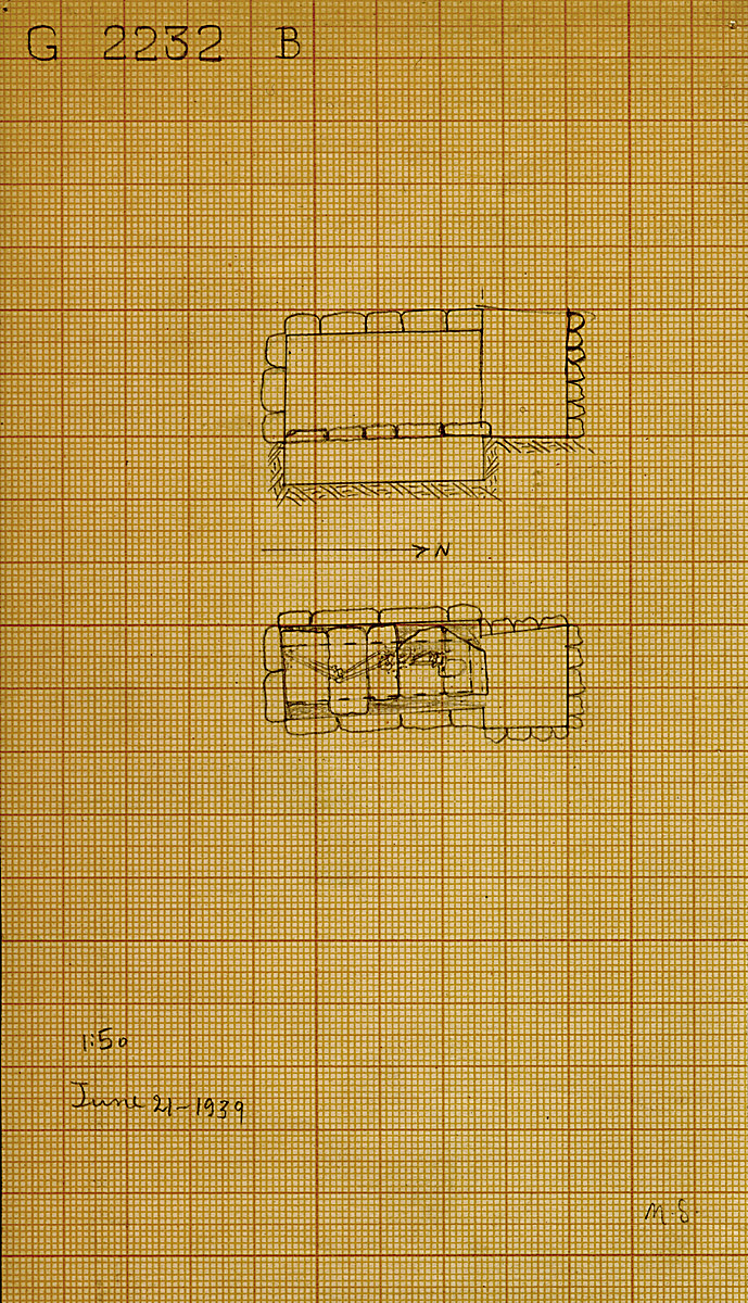 Maps and plans: G 2232, Shaft B
