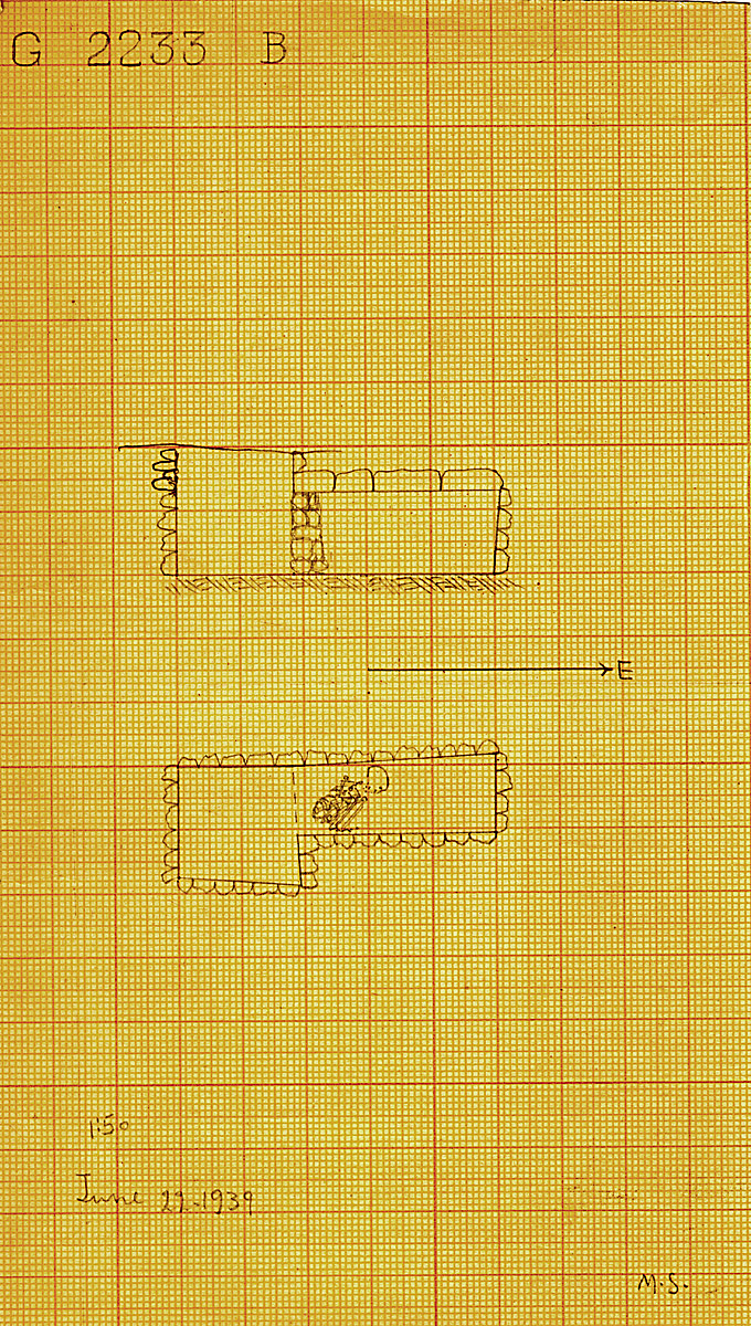 Maps and plans: G 2233, Shaft B