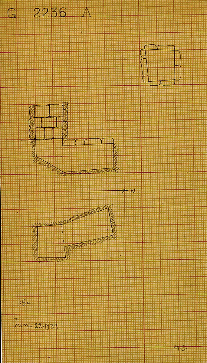 Maps and plans: G 2236, Shaft A