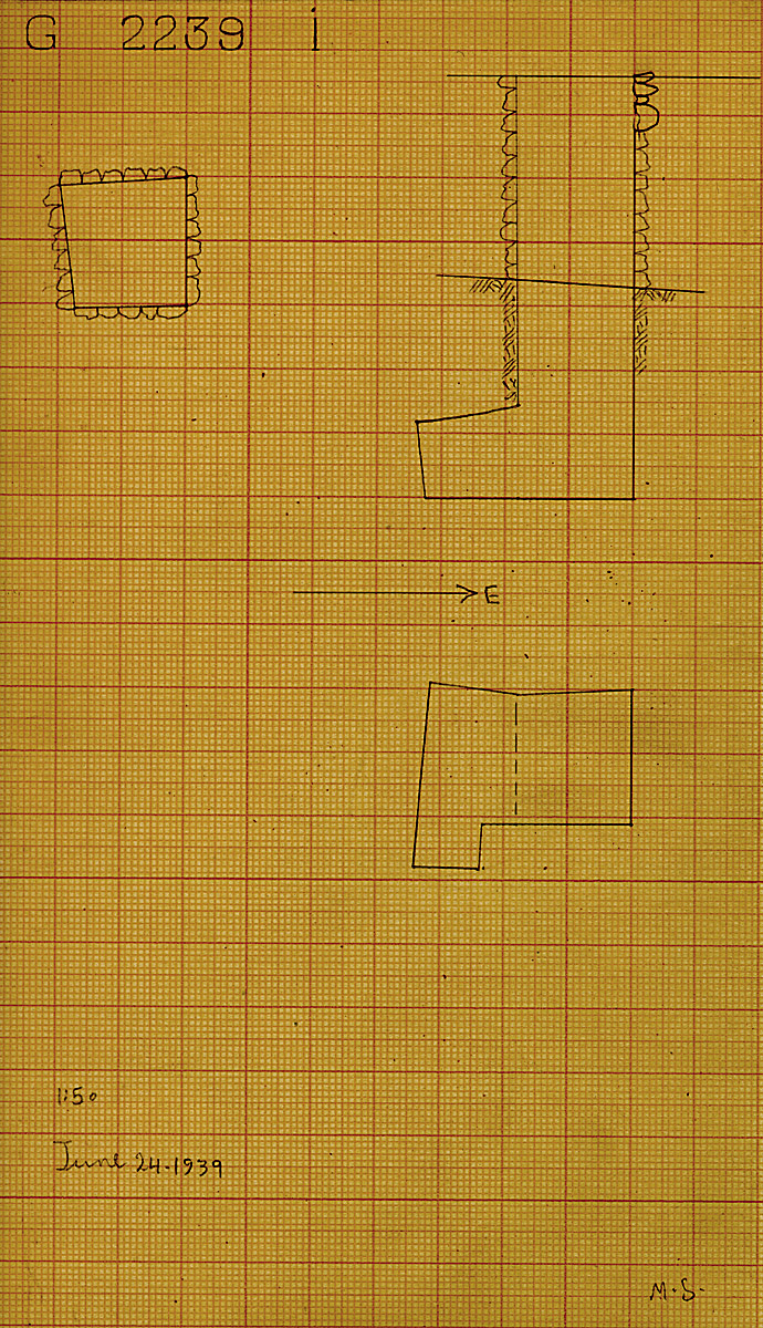 Maps and plans: G 2239, Shaft I