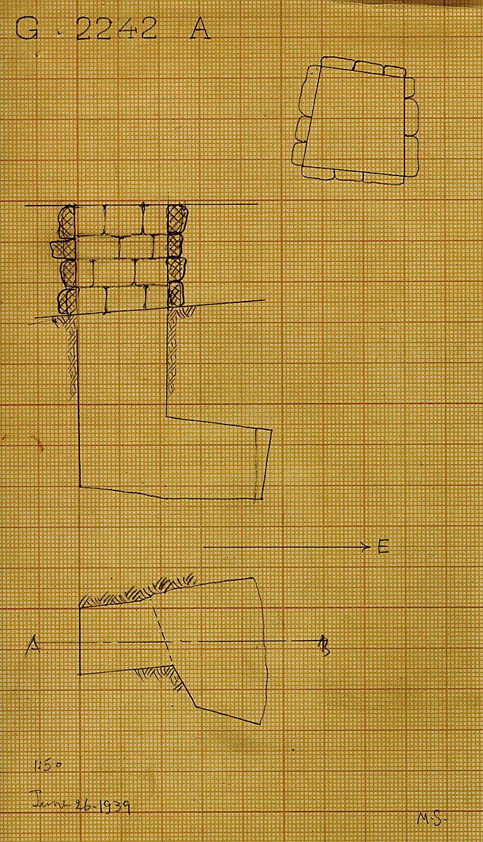 Maps and plans: G 2242, Shaft A
