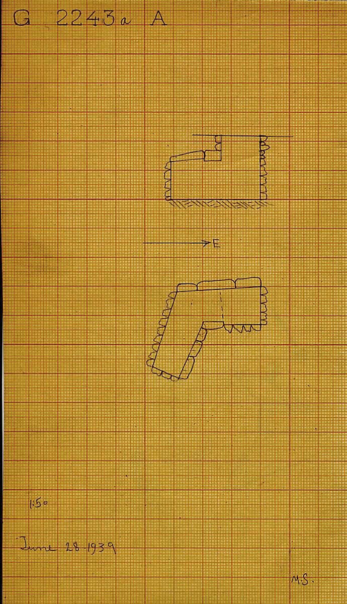 Maps and plans: G 2243a, Shaft A