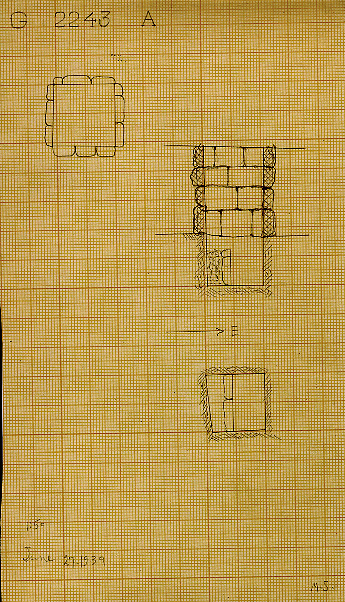 Maps and plans: G 2243, Shaft A