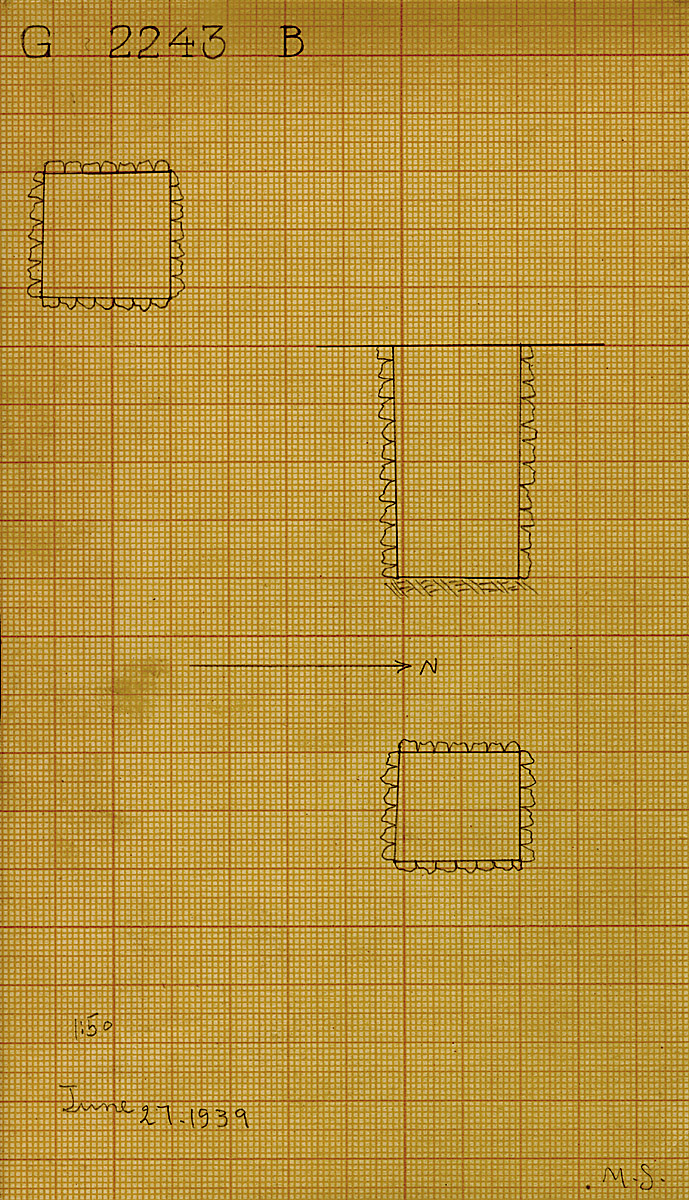 Maps and plans: G 2243, Shaft B