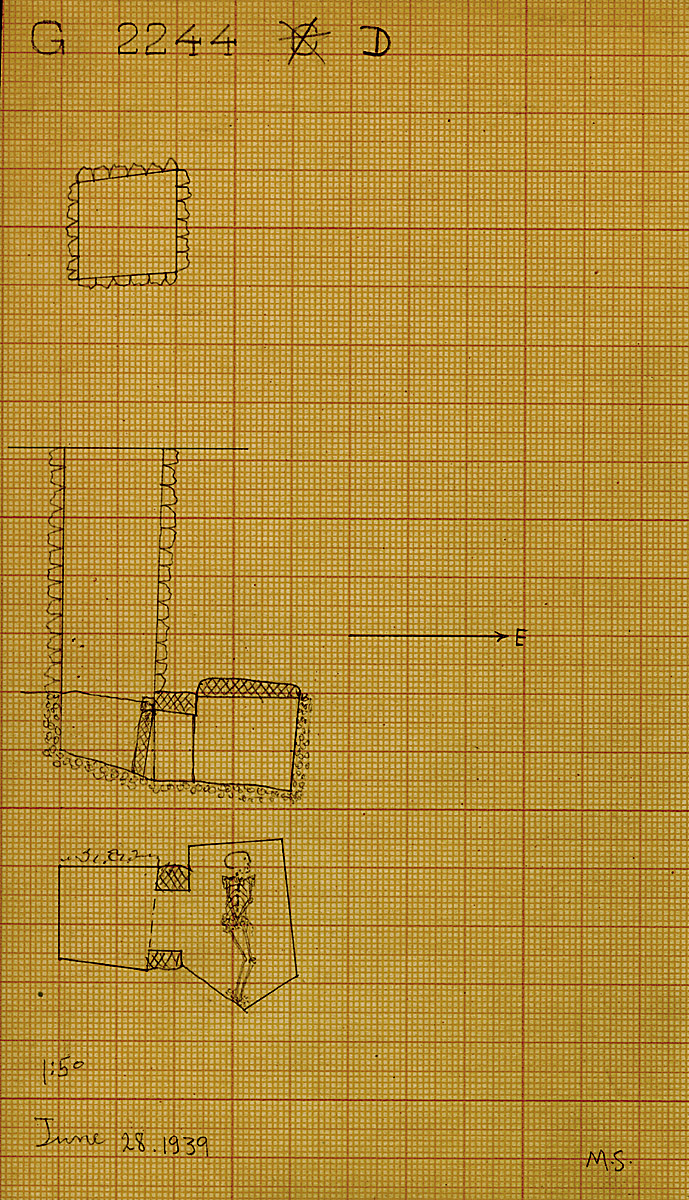 Maps and plans: G 2244, Shaft D
