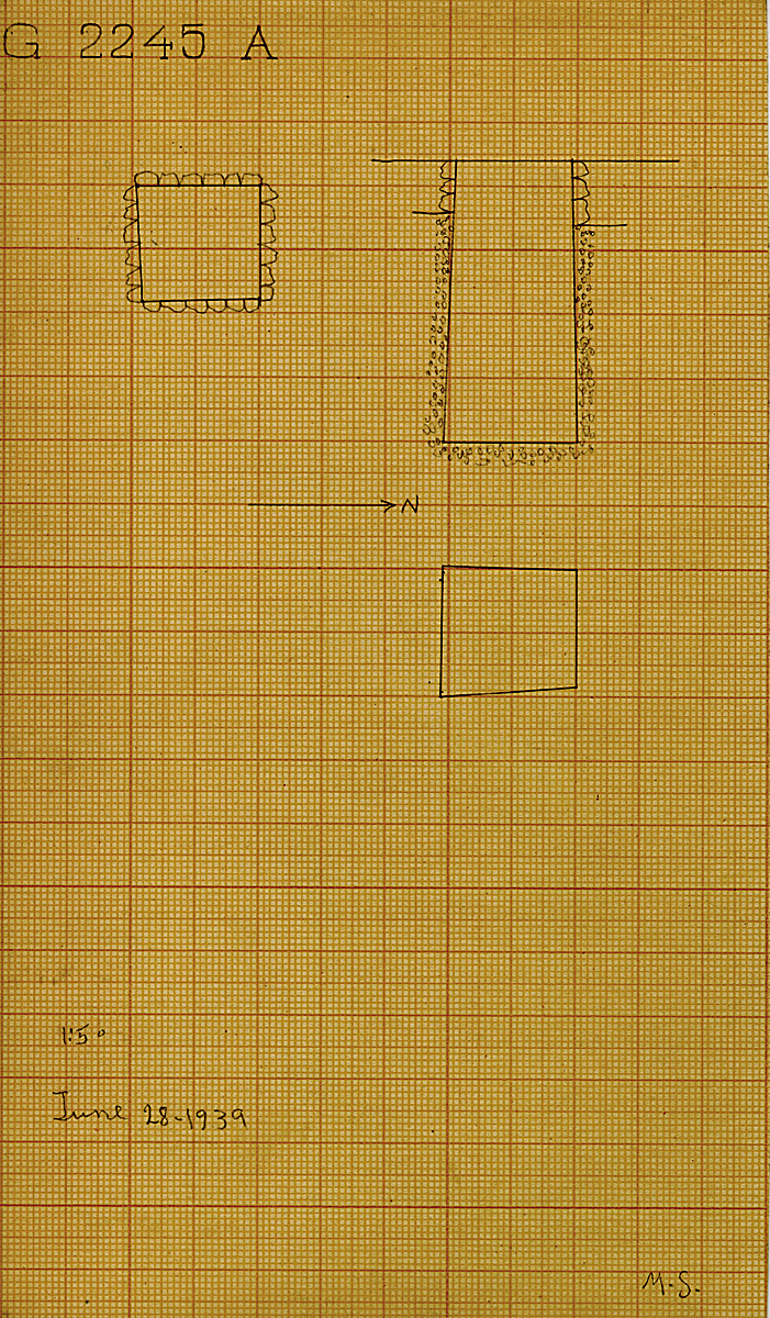 Maps and plans: G 2245, Shaft A