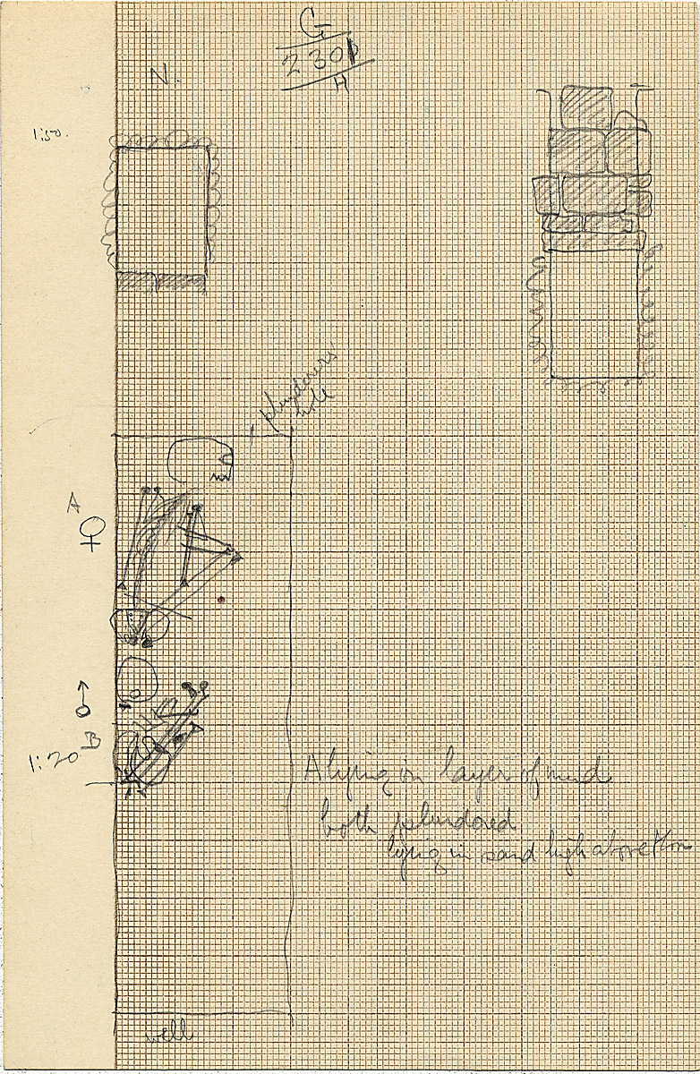 Maps and plans: G 2301, Shaft H