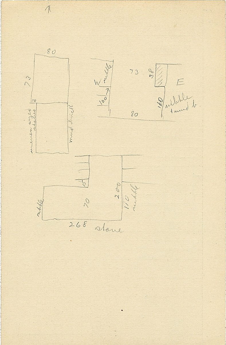 Maps and plans: G 2303, Shaft Y, notes