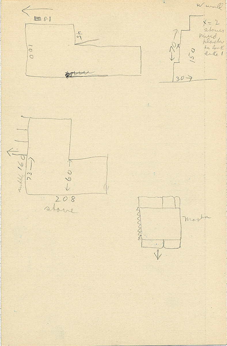 Maps and plans: G 2304, Shaft U, notes