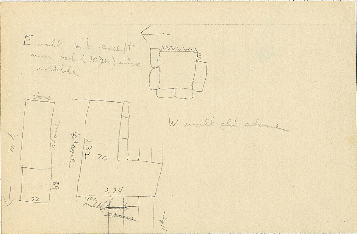 Maps and plans: G 2304, Shaft Y, notes