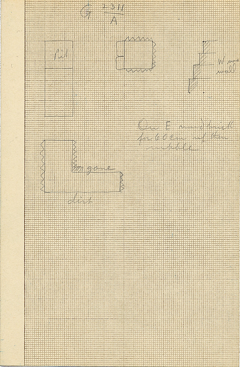 Maps and plans: G 2311, Shaft A