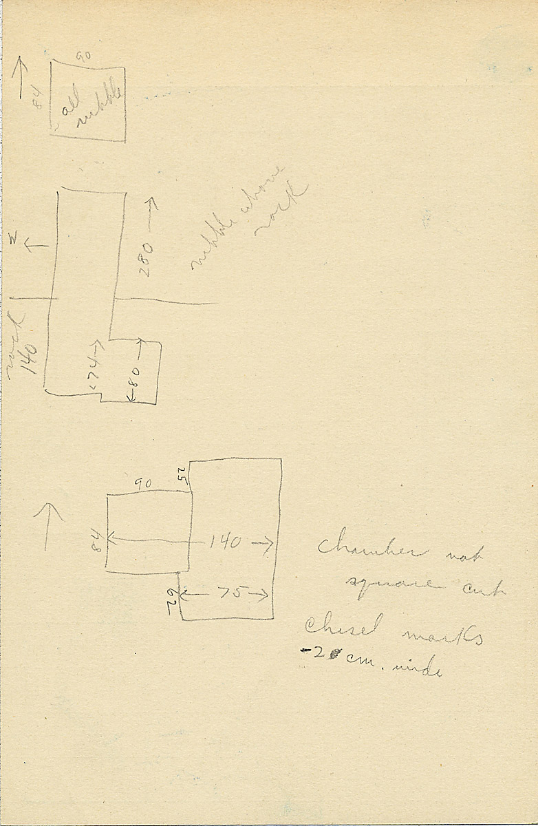 Maps and plans: G 2311, Shaft B, notes