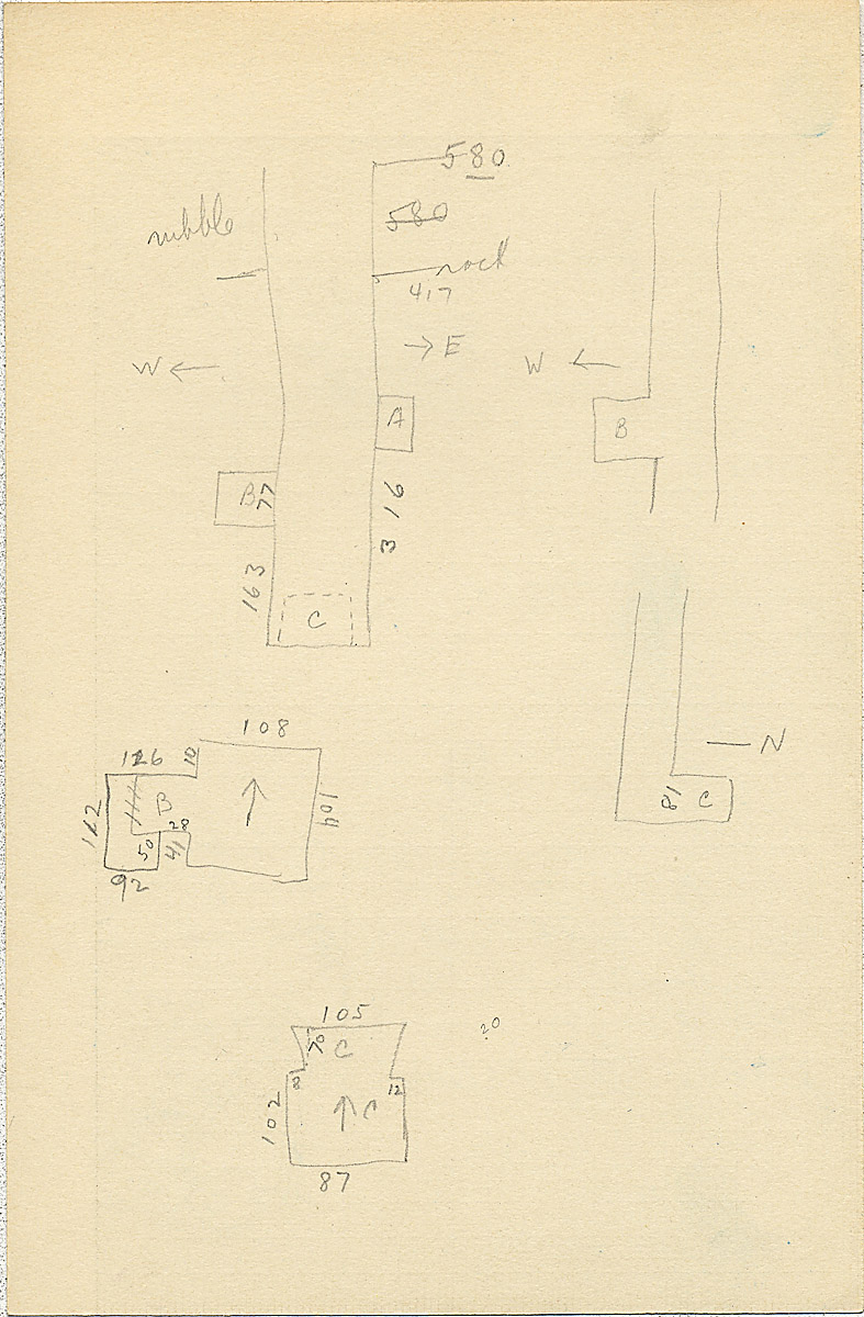 Maps and plans: G 2311, Shaft L, notes