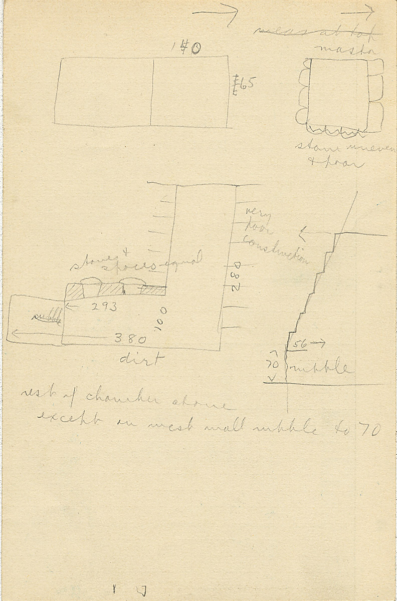 Maps and plans: G 2311, Shaft Z, notes