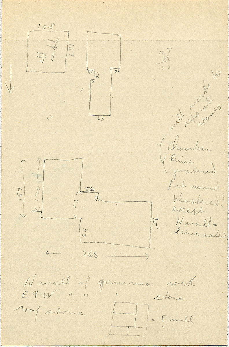 Maps and plans: G 2314, Shaft A, notes