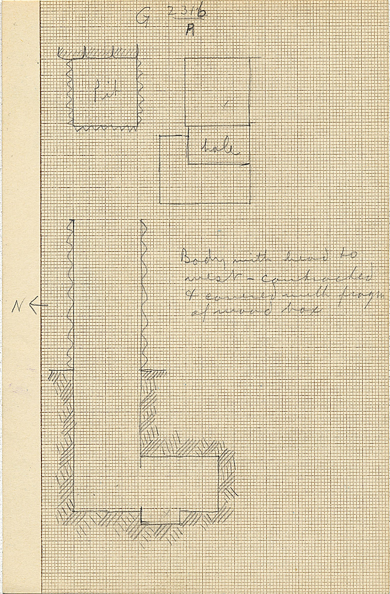 Maps and plans: G 2316, Shaft A