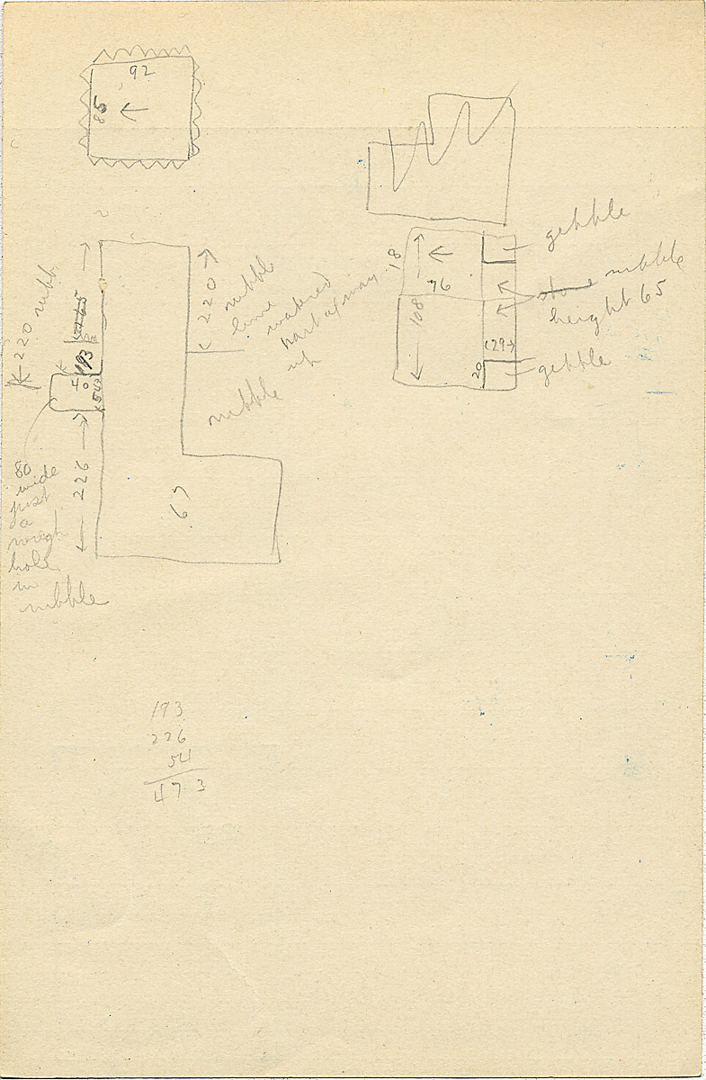 Maps and plans: G 2316, Shaft B, notes