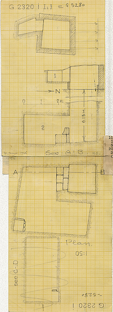 Maps and plans: G 2320 = G 5280, Shaft I (I & II)