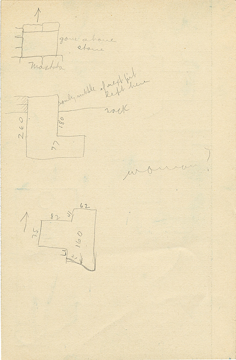 Maps and plans: G 2326, Shaft A, notes