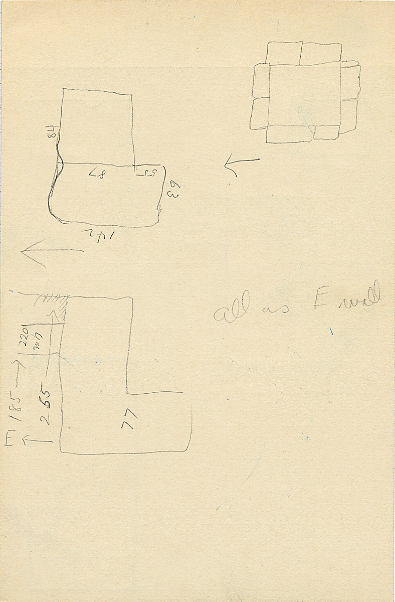 Maps and plans: G 2326, Shaft B, notes