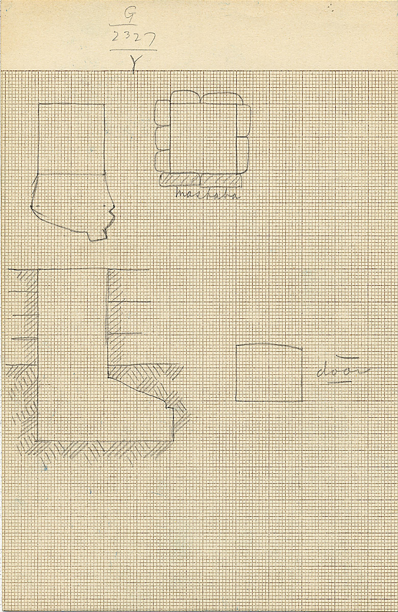 Maps and plans: G 2327, Shaft Y