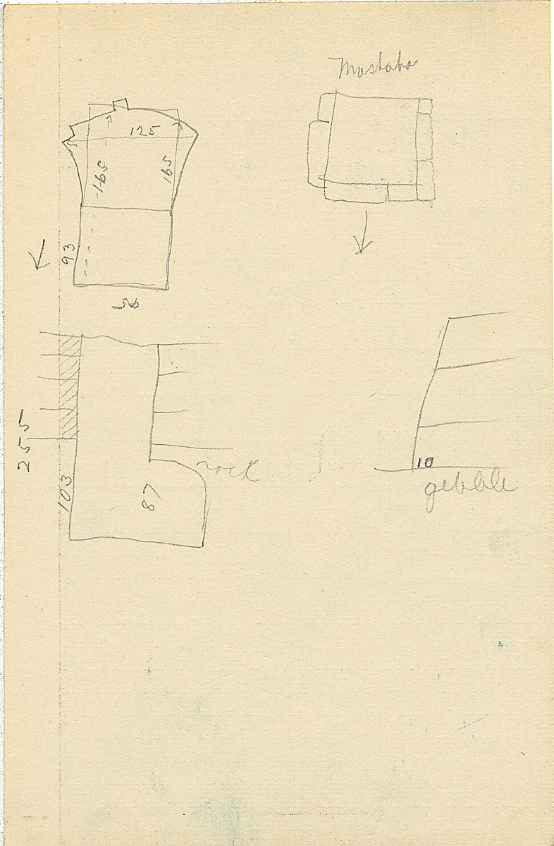 Maps and plans: G 2327, Shaft Y, notes