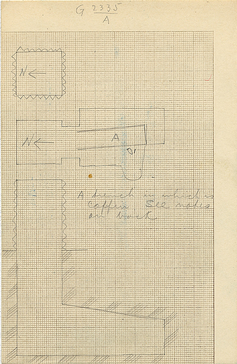 Maps and plans: G 2335, Shaft A