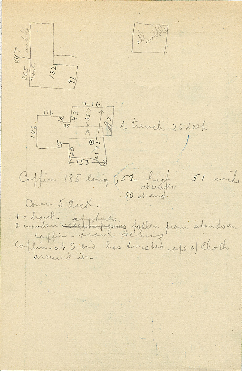 Maps and plans: G 2335, Shaft A, notes