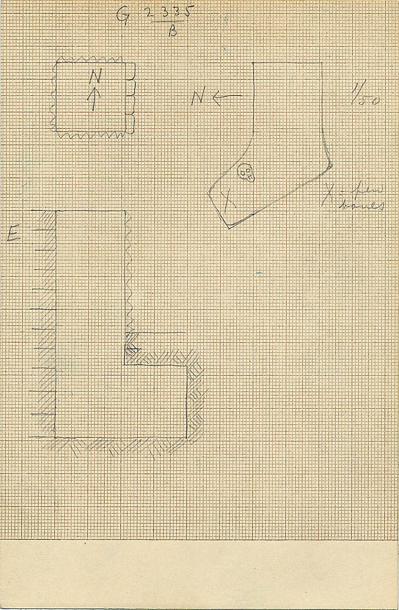 Maps and plans: G 2335, Shaft B