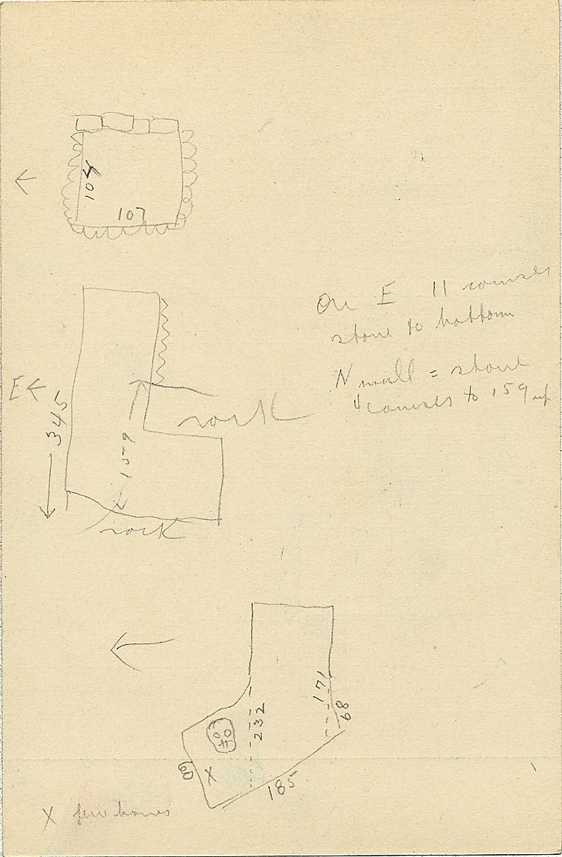 Maps and plans: G 2335, Shaft B, notes