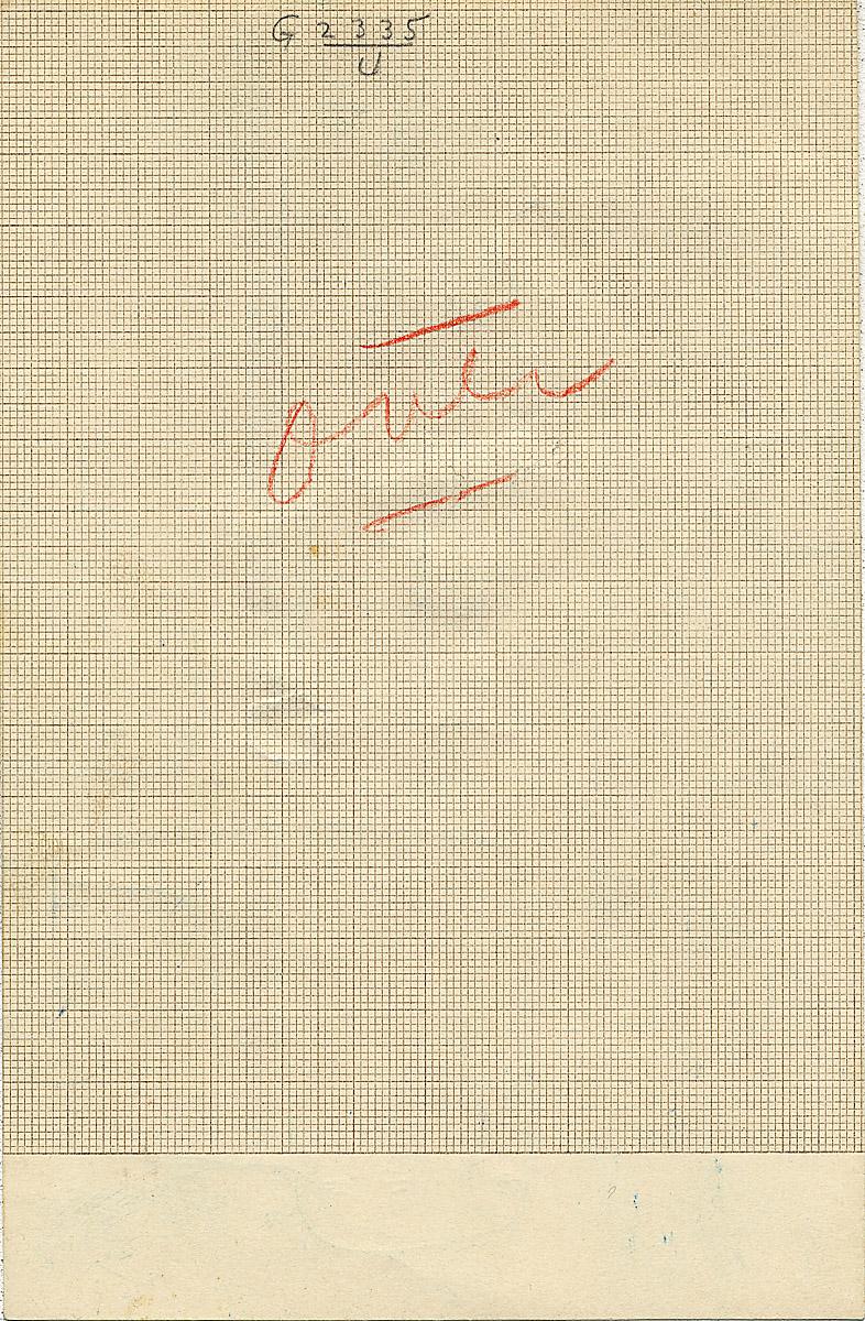 Notes: G 2335, Shaft U